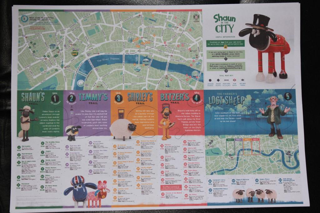 Londonkarte mit interessanten Routen für Besichtigungen mit Kindern