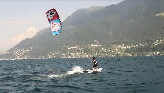 Kitesurfende Mama