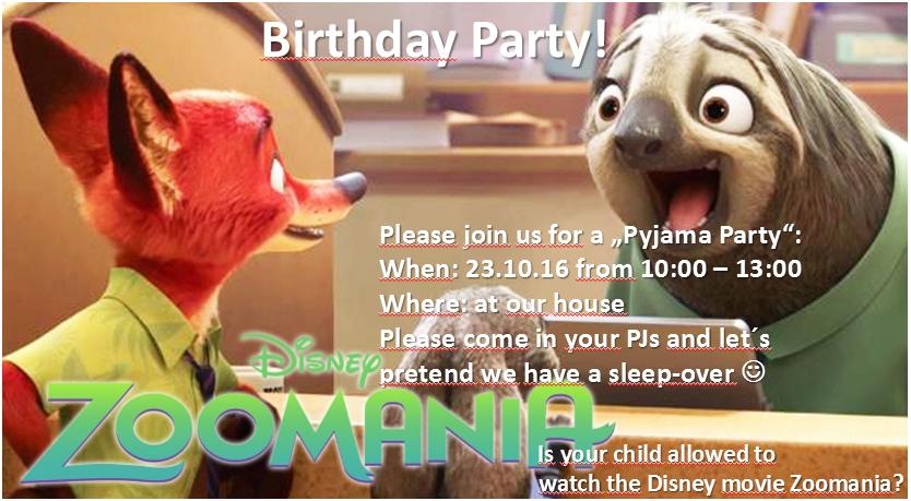 Einladung zur 6. Geburtstagsparty