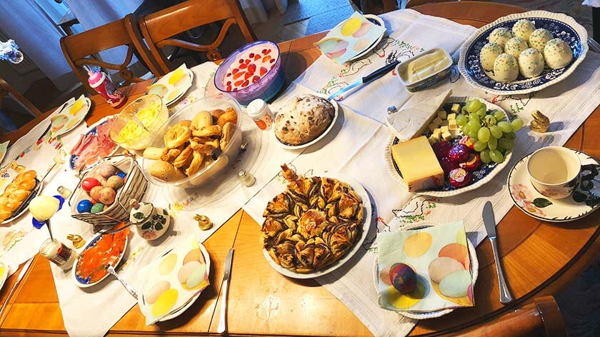 Osterfrühstück in Berlin