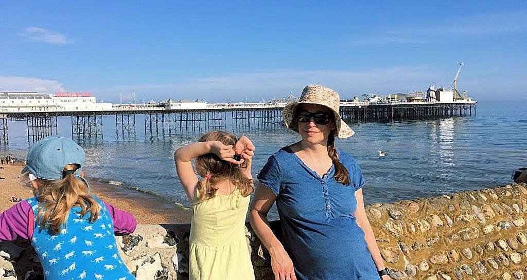 Blick auf das Pier in Brighton