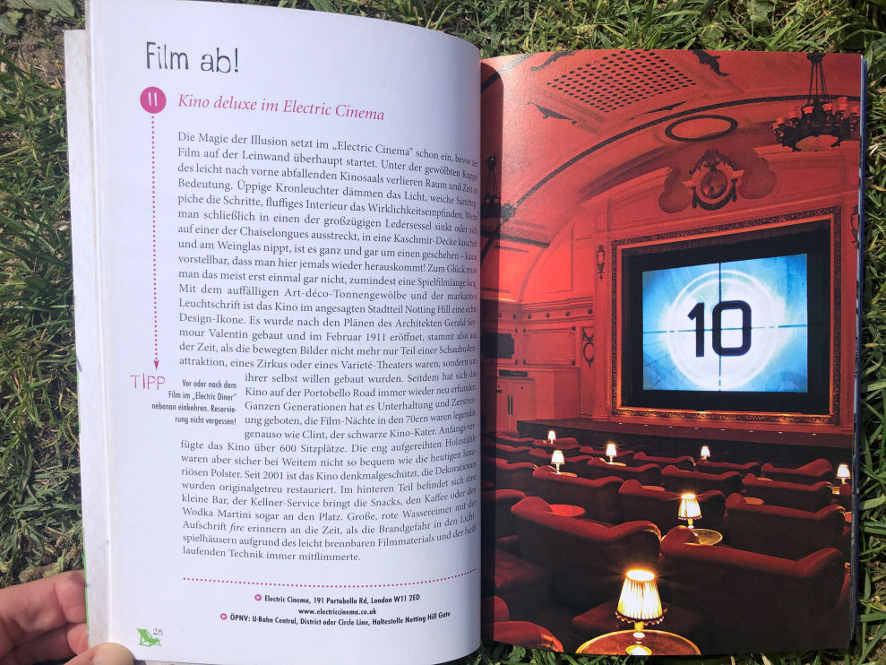 Glücksorte in London - Kino deluxe im Electric Cinema