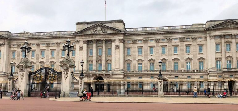 Buckingham Palace leer während des Lockdowns in London