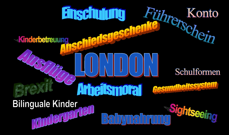 Stichwortverzeichnis für Deutsche die in London leben